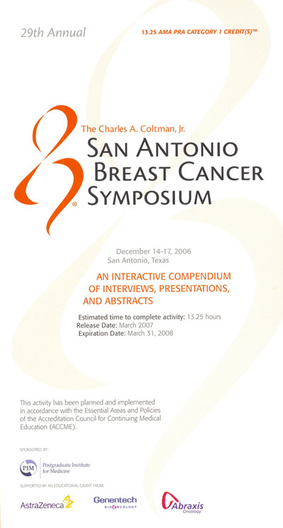 San antonio breast cancer symposium sabcs